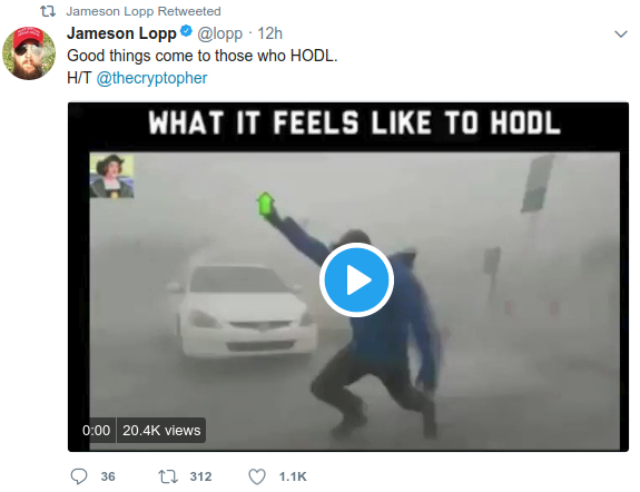 Good things come to those who HODL