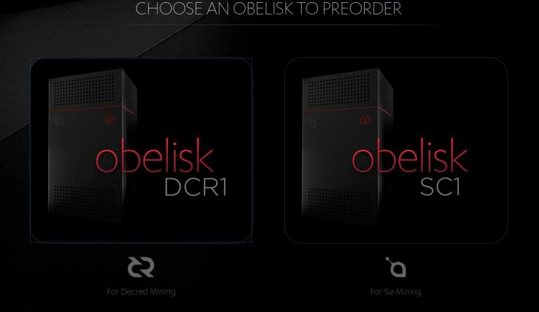 Obelisk's First ASIC Miner for Decred (DCR) On Pre-Sale For $2,499