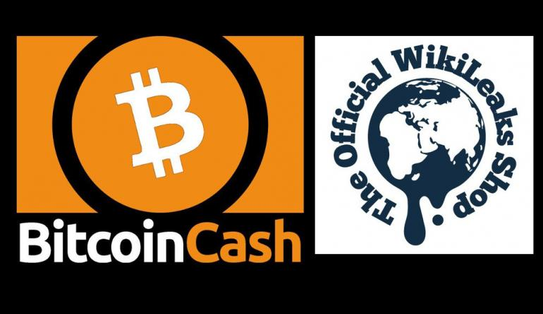 Wikileaks Shop Accepts Bitcoin Cash