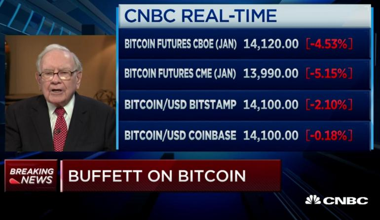 Warren Buffet: Cryptocurrencies Will End In Tears (VIDEO)